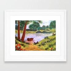Peaceful Lake Framed Art Print