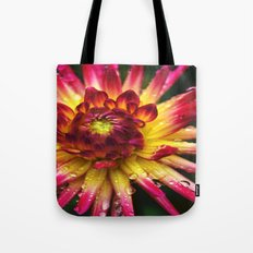 Dahlia Photography Close Up Macro photography Tote Bag