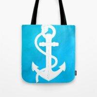 White Anchor Tote Bag