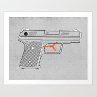 Art Print featuring Water Gun by Ryder Doty
