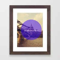 Walking On A Dream Framed Art Print