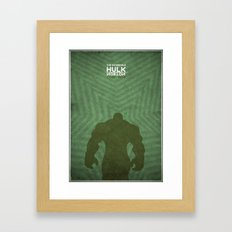 the incredible hulk - minimal poster Framed Art Print