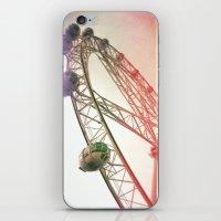 Vintage Ferris Wheel  iPhone & iPod Skin