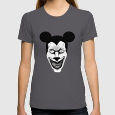 Maniac Mickey Womens Fitted Tee Asphalt SMALL