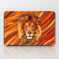 Old Lion Digital Art Pai… iPad Case