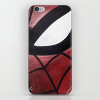 SPIDEY FACE iPhone & iPod Skin