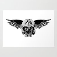 Winged Skull (Two Pieces… Art Print