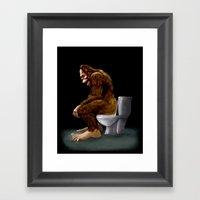 Bigfoot Breaks Into Some… Framed Art Print