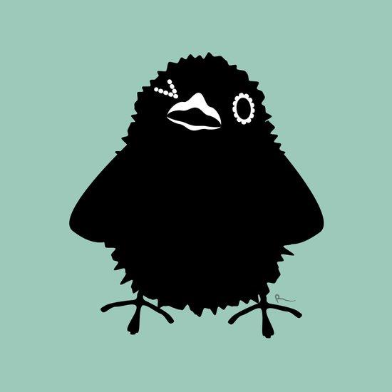 Baby Raven, Wink Art Print