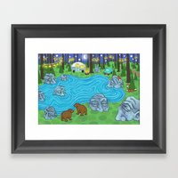 Pine Forest Framed Art Print