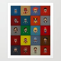 Art Print featuring Screaming Heroes by That Design Bastard