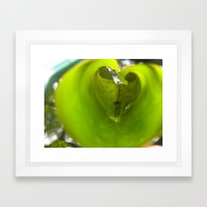 Love in a Lily Framed Art Print