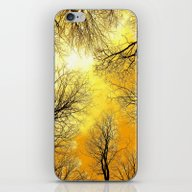Black Trees Golden Sky iPhone & iPod Skin