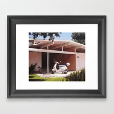 Eichler With Vespa Framed Art Print