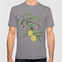 Lemons in Spring Mens Fitted Tee Tri-Grey SMALL