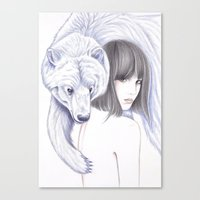 Spirit Bear Canvas Print