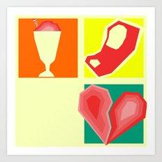 Milkshakes, Steaks, and Heartbreaks Art Print