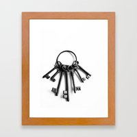 Keys to Another Time Framed Art Print