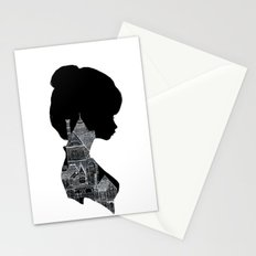 Little Houses Silhouette Stationery Cards