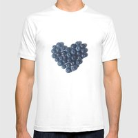 Blueberry Love Mens Fitted Tee White SMALL