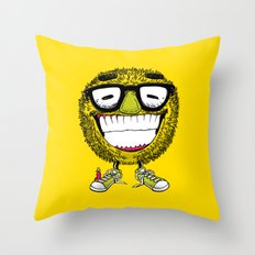 Mr Grin Throw Pillow