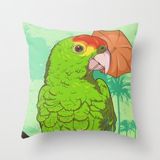 Parrot illustration Throw Pillow