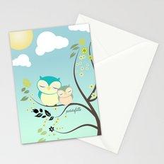 Sleeping Owls Stationery Cards