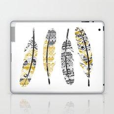 Mustard Feathers Laptop & iPad Skin