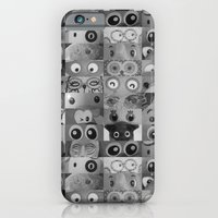 iPhone & iPod Case featuring Eyes Eyes Eyes BW by AntWoman