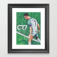 CR7 PORTUGAL DRAWING Framed Art Print