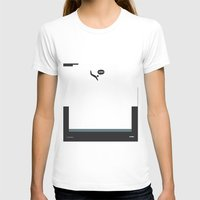 WTF? Pool Womens Fitted Tee White SMALL