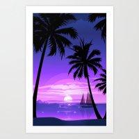 Sunset Four Art Print