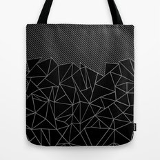 Ab Lines 45 Grey and Black Tote Bag