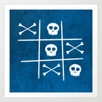Skull & Bones Art Print