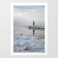 Winter in Holland, Michigan Art Print
