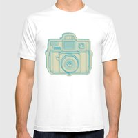 I Still Shoot Film Holga Logo - Turquoise/Tan Mens Fitted Tee White SMALL