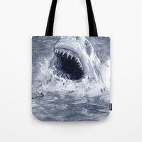 Shark Attacks! ( by Luca Conca for Passenger Press) Tote Bag