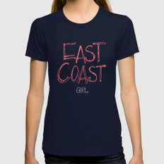 East Coast, Girl. Womens Fitted Tee Navy SMALL