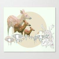 Deer, Creatures Canvas Print