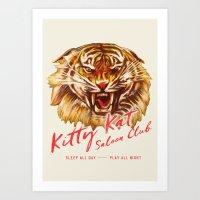 Kitty Kat Saloon Club - … Art Print