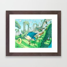 Starring Sonic and Miles 'Tails' Prower (Blue Version) Framed Art Print