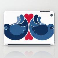 Blue Lovebirds iPad Case