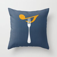 Hungry For Music Throw Pillow