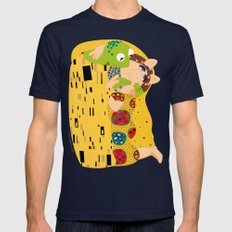 Klimt muppets Mens Fitted Tee Navy SMALL