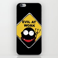 Evil at Work iPhone & iPod Skin