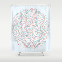 Circle Murmuration Shower Curtain