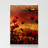 Fields Of Fire Stationery Cards
