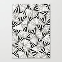 Party Triangles Canvas Print