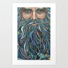 The Old man Ocean  Art Print