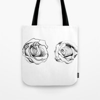 Two Roses for my Friends Tote Bag